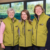 Office clerks (L-R) Primrose Jones, Abbie Morgan, and Carol Davies.