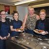 The cafe staff (L-R) Gwenllian Williams, Annest Llwyd, Pred Morris, and Catrin Owen.