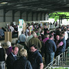 Charollais Sheep Worcester Premier Sale 2014<br /> Buyers viewing sheep before the sale <br /> Picture Tim Scrivener 07850 303986