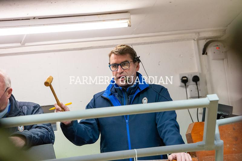 Auctioneer Simon Jones in action.