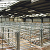 Ref Theresa Photo Arvid Parry Jones. ( Pic 5 ).<br /> Brightwells Refurbished Rhayader Livestock Market, Mid Wales. Sale of 1500 fat lambs. <br /> New indoor cattle pens recently installed.