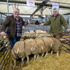 Champion pen of lambs were from DJ Saxby of Litton (left) these sold at 500p/kg (£226/head) to Matthew Prince (right) of Highfield Farm Shop, Stonedge, Ashover.