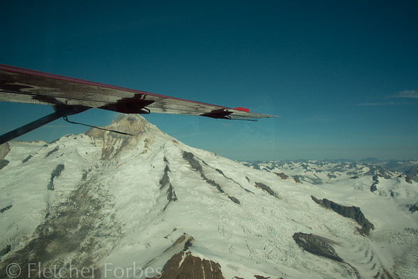 Our flight to Katmai Island took us over the Alaska Range and the Aleutian Range.