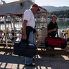 """Land trip is over, loading up """"Indi"""" with our gear. Indie is the Nautilus Swell's dive and utility boat. We board Indi from the Swell and take a short run to the dive site, or to the salmon rivers, or to the glacier... couldn't do without Indi."""