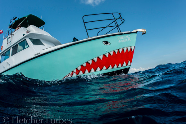 Jupiter Fl Emerald Charter boat, shark hunter.