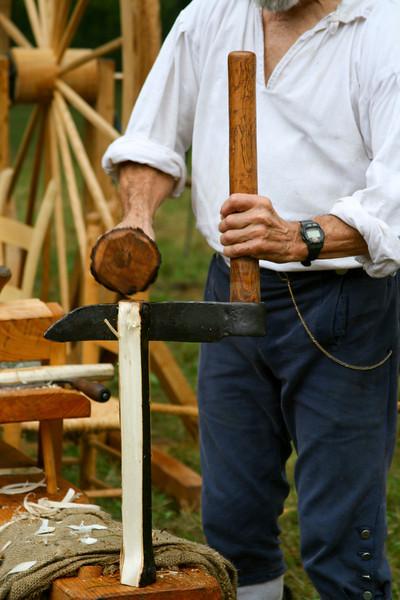 Carpenter at work - circa 1800.