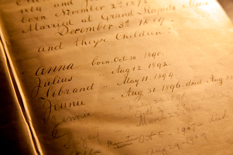 Birth record from an old bible.