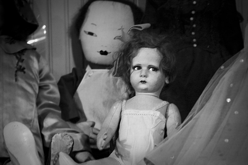 Creepy turn-of-the century doll collection. The eyes are watching you.