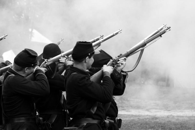 Men at war.