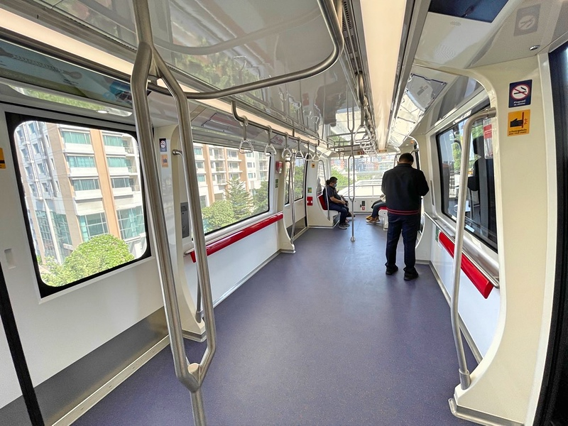 Inside Gold Line carriage