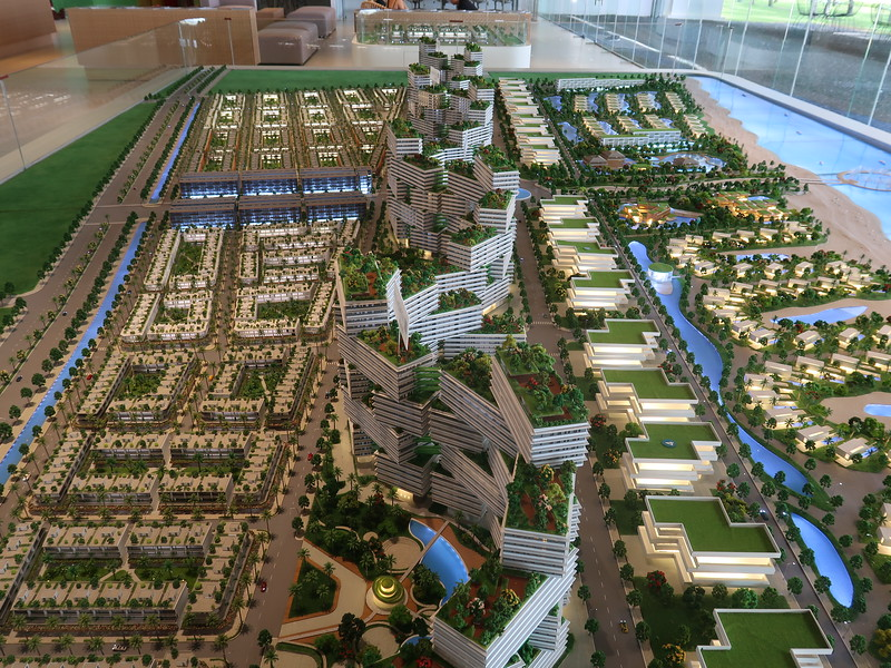 Thanh Long Bay - model of shophouses, apartments, and villas
