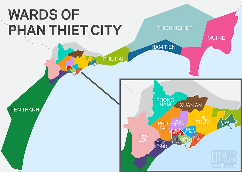 Wards of Phan Thiet City