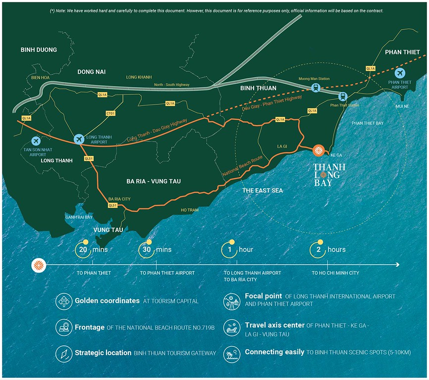 Map of Thanh Long Bay