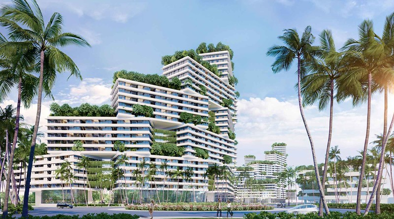 Thanh Long Bay stacked blocks apartments