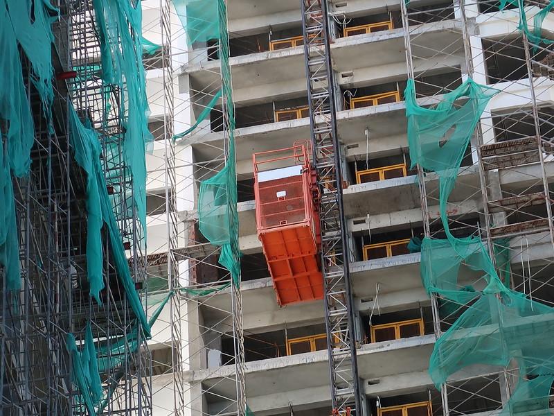 Construction lift at Danang Times Square