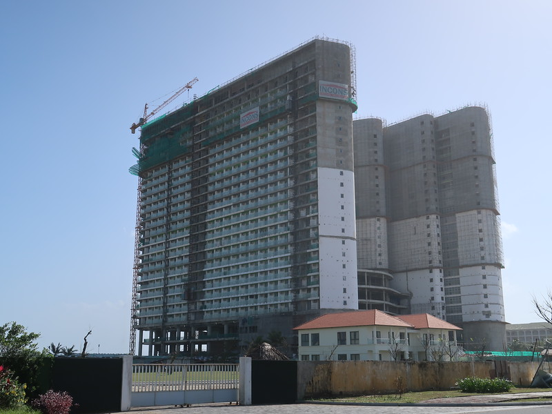 Construction site of Ariyana Beach Resort