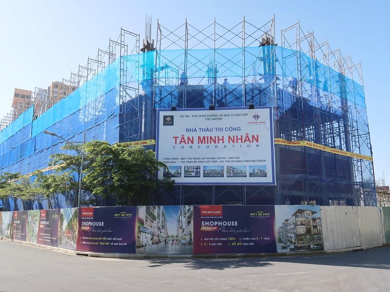 Shophouses under construction