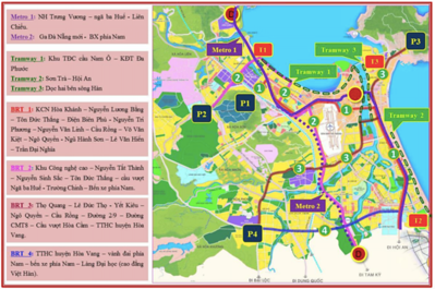 Da Nang Public Transport Network Plan up to 2030
