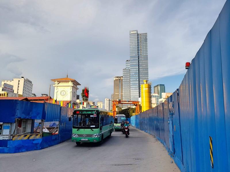 Metro construction at Ben Thanh Market