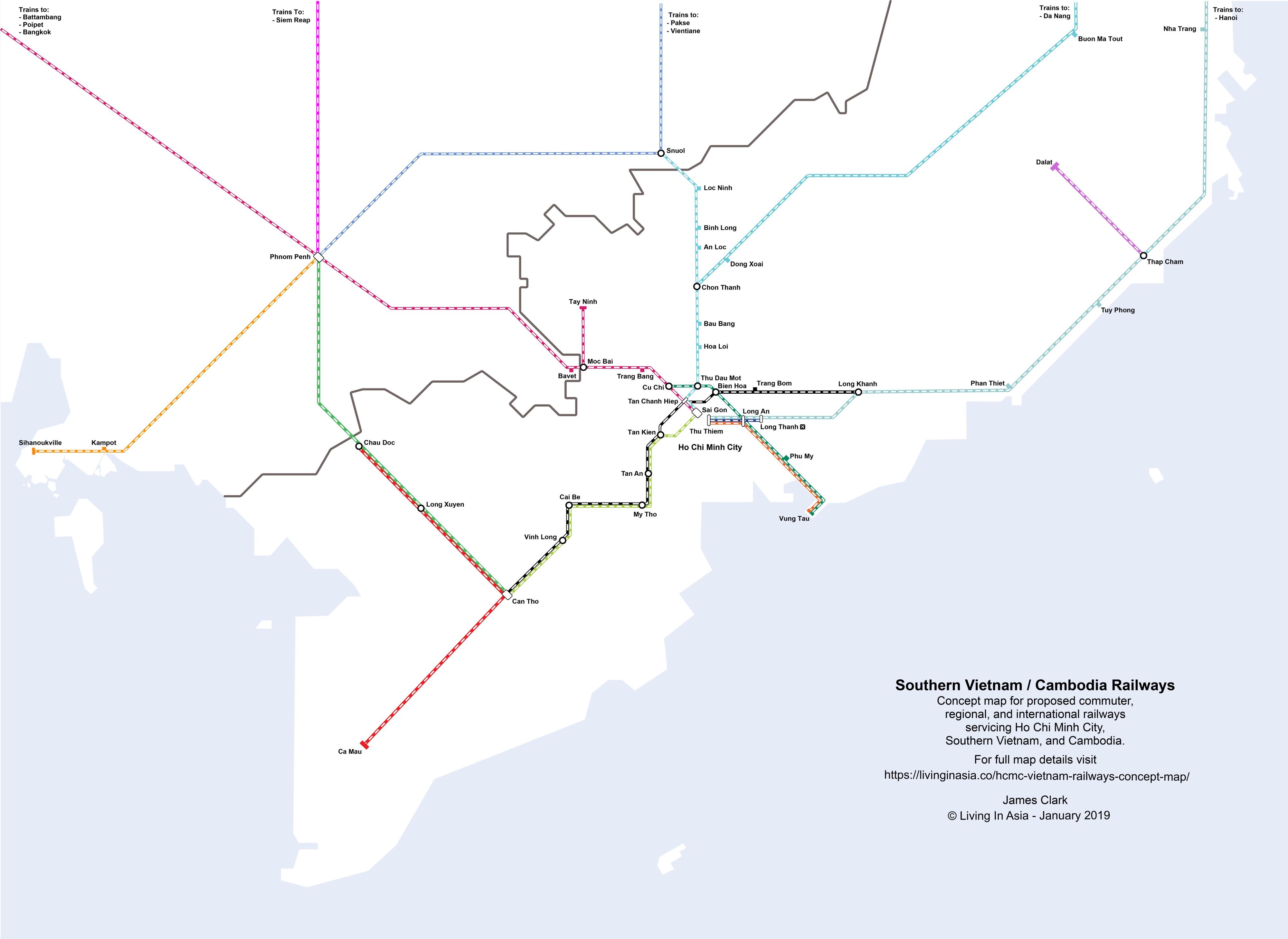 Tokyo Vincity Subway Map.Ho Chi Minh City Metro Concept Map