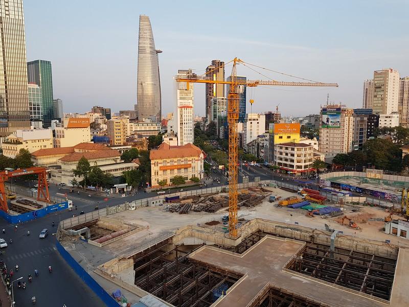 Ben Thanh metro work site