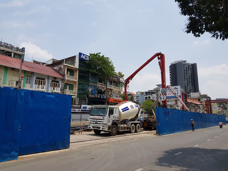 Le Loi metro construction.