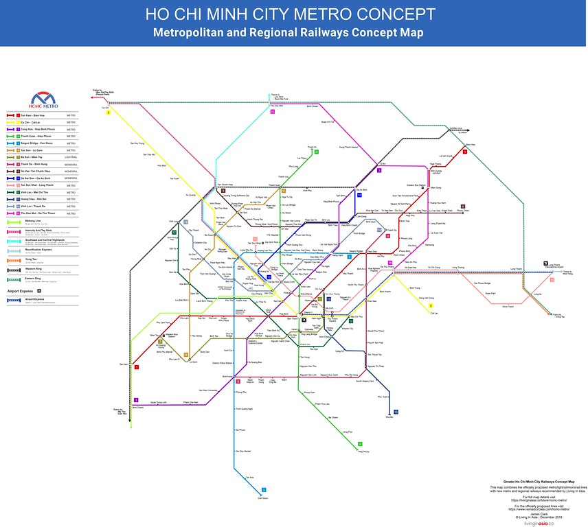 Ho Chi Minh City Metro Concept Map