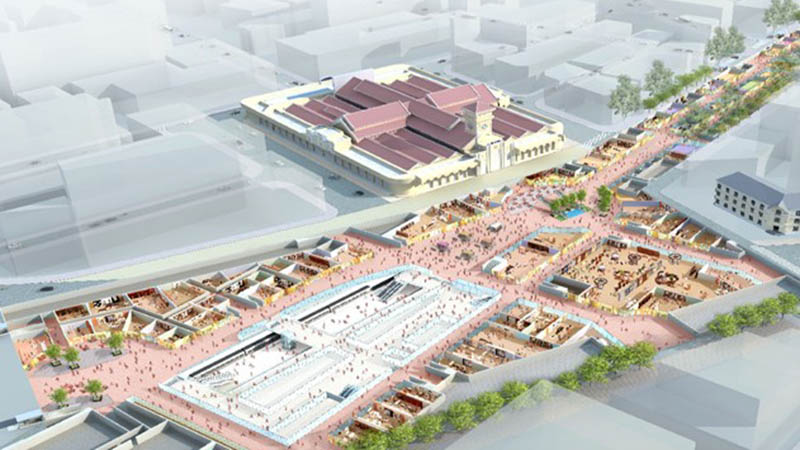 Ben Thanh Metro Station Cross Section