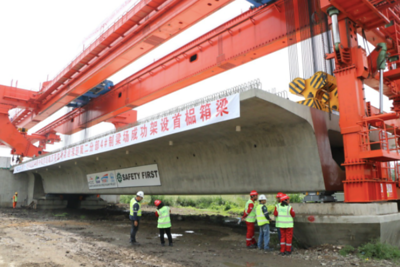 Jakarta-Bandung high-speed railway on track as CREC installs first box girder