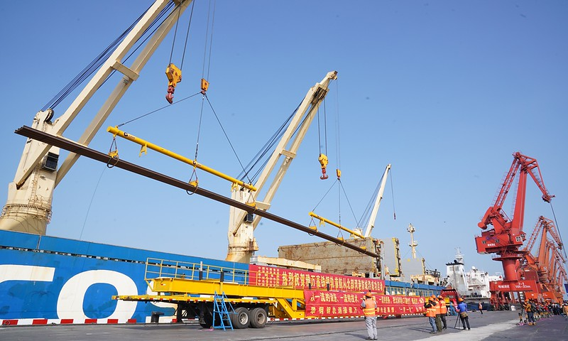 China-made steel rails go on voyage for Jakarta-Bandung high speed railway