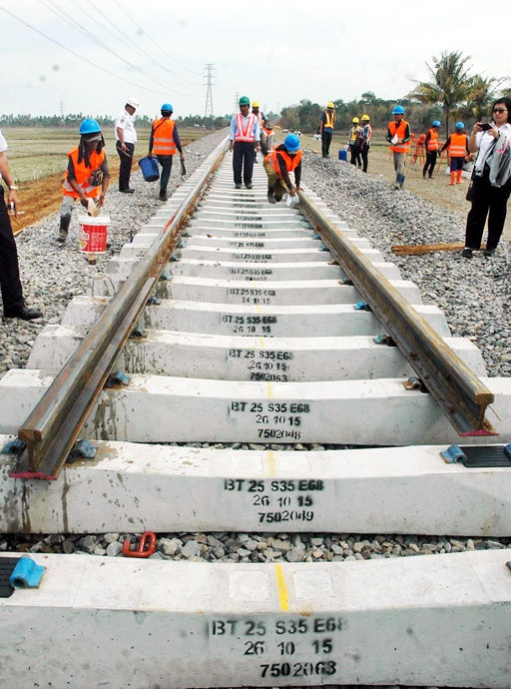 Track laying South Sulawesi