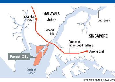 Iskandar Puteri HSR Map