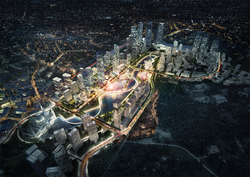 Bandar Malaysia Aerial  - Night