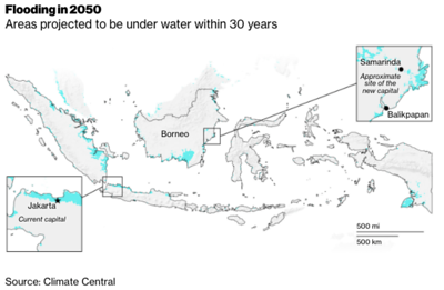 Indonesia flooding in 2050