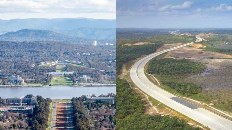 Canberra and Kalimantan