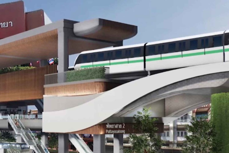 Pattaya Monorail concept station