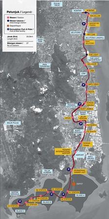 Bayan Lepas LRT Map