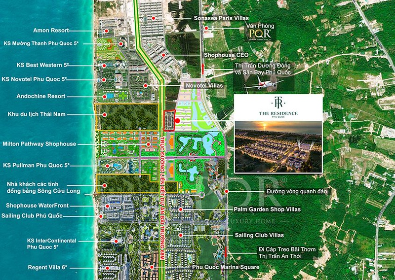 The Residence Phu Quoc Map