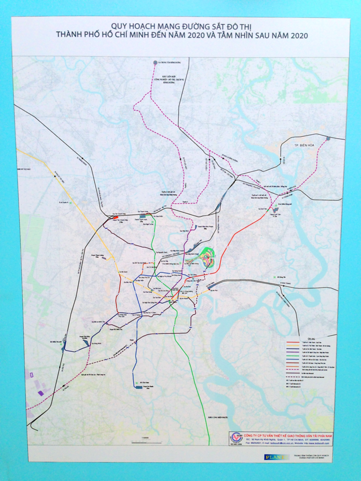 How To Outline Story Like Subway Map.Ho Chi Minh City Metro Concept Map