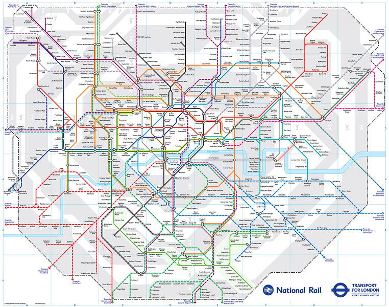 London Train Map