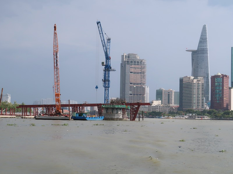 Thu Thiem 2 Bridge construction District 1 view