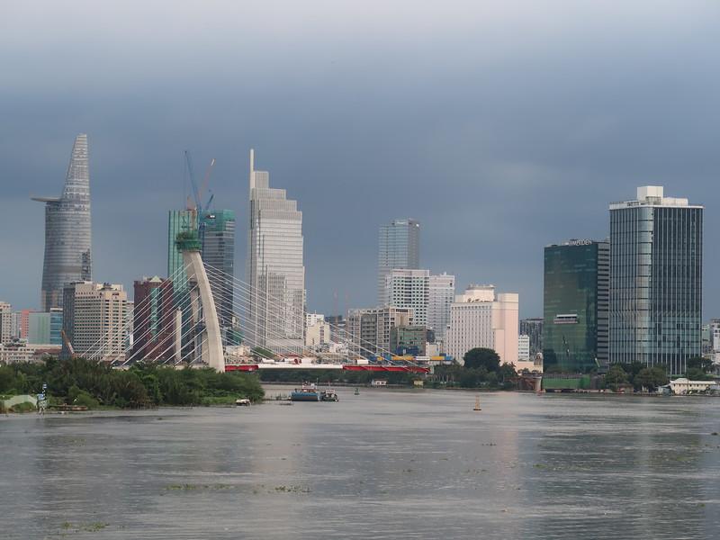 Thu Thiem 2 Bridge and city skyline