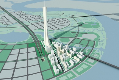 Thu Thiem Tower proposal (Ao Dai version)
