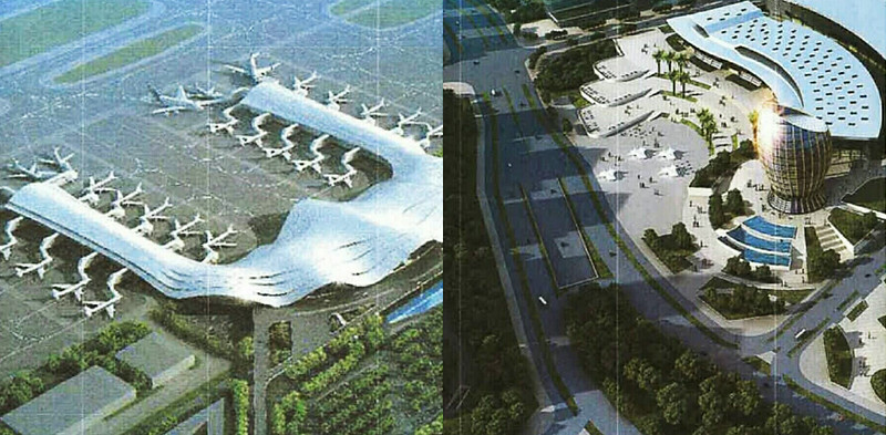 Airport and new city building
