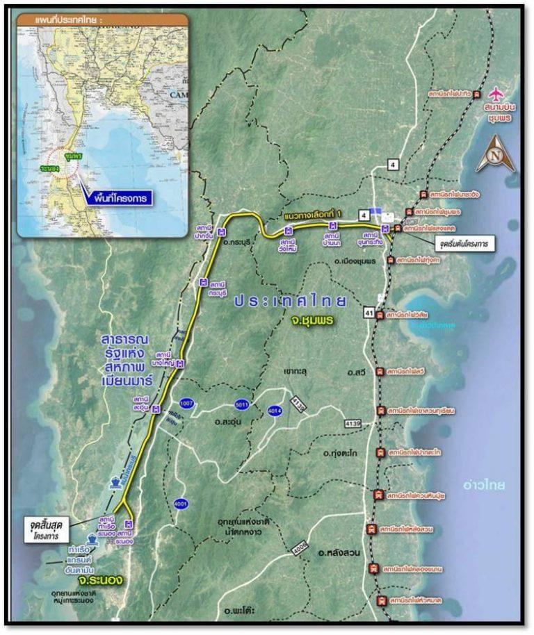 Chumphon - Ranong Map