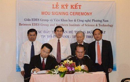 MOU signing for HCMC - Can Tho railway