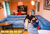Lindmoor Woods is home to affordable housing and creative families, including director Dayna Noffke, left, her husband, Jason Tolar, not pictured, and their daughter 9-year-old Vivi Tolar, right.  The home is decorated in Dayna's retro style and the spacious backyard allows for gardens and hens.  Jason Tolar is not pictured and their older son Cole is out of the house now.  (Jenni Girtman / Atlanta Event Photography)