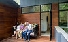 Dan Kaufman and his family live in a classic brick ranch in Chastain Park that ahs been modernized into a contemporary space with dozens of windows, open staircases, metal roof, pool and basketball court.  Melissa and Dan Kaufman have twins.  Logan and Ella are both 13 years old.  (Jenni Girtman / Atlanta Event Photography)