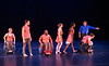 Full Radial Dance performers take a bow during dress rehearsal  for the The Modern Atlanta Dance Festival at Balzer Theater at Herren's in downtown Altanta.  Laurel Lawson, from left, Mason Diaz, DeMarco Sleeper, McKenzie Beaverson, Rebekah Pleasant-Patterson, Douglas Scott, in blue, and Lindy Dannelley.  Scott is the Full Radial Dance's artistic/executive director and the founder of the MAD Festival. The troupe dances internationally and includes disabled and able bodied dancers.  (Jenni Girtman / Atlanta Event Photography)