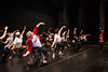Laurel Lawson, front left, with Full Radial Dance warms up as multiple area dance troupes prepare for the The Modern Atlanta Dance Festival dress rehearsal at Balzer Theater at Herren's.  The troupe of internationally known dancers include disabled and able bodied dancers. Douglas Scott, is leading the warm up and is the Full Radial Dance's artistic/executive director and the founder of the MAD Festival.   (Jenni Girtman / Atlanta Event Photography)
